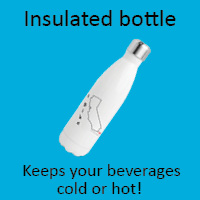 Stay hydrated with an I Bike insulated water bottle