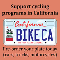 Support bicycling with a Cal Bike Plate